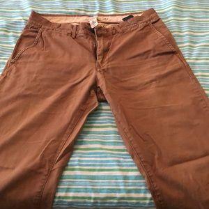 H&M Brown/Tan Slim Fit Chinos (31x32)